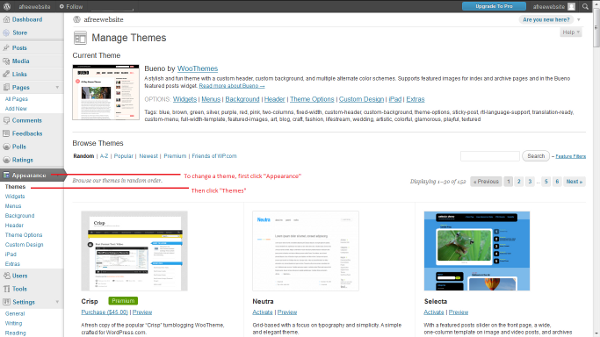 Change a wordpress theme website overnight for How to edit wordpress templates